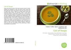 Bookcover of List of Soups