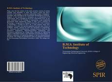 Copertina di B.M.S. Institute of Technology