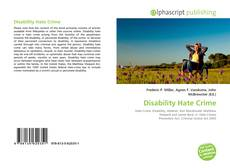 Bookcover of Disability Hate Crime