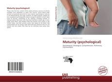 Maturity (psychological)的封面