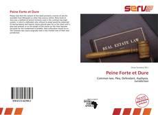 Buchcover von Peine Forte et Dure