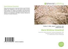 Buchcover von Hare Krishna (mantra)