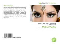 Bookcover of Mathur Vaishya
