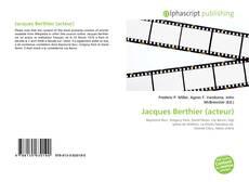 Buchcover von Jacques Berthier (acteur)