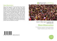 Bookcover of Mass-Observation