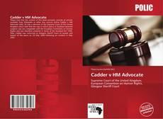 Cadder v HM Advocate的封面