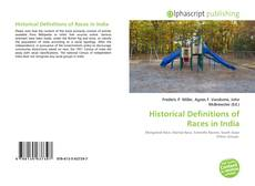 Bookcover of Historical Definitions of Races in India