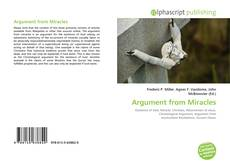 Bookcover of Argument from Miracles