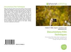 Bookcover of Documentary Film Techniques