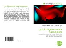 Buchcover von List of Progressive Rock Supergroups