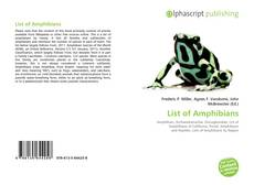 Bookcover of List of Amphibians