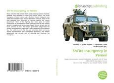 Portada del libro de Shi'ite Insurgency in Yemen