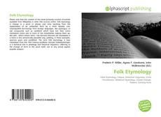 Borítókép a  Folk Etymology - hoz