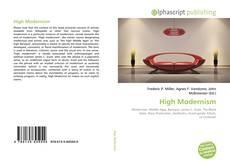 Capa do livro de High Modernism