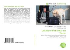 Bookcover of Criticism of the War on Terror