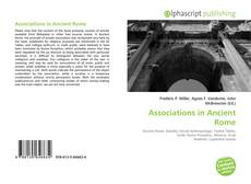 Bookcover of Associations in Ancient Rome