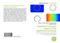 Institute of European Studies of the Jagiellonian University kitap kapağı