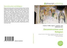 Bookcover of Deconstruction and Religion