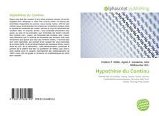 Borítókép a  Hypothèse du Continu - hoz