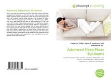 Advanced Sleep Phase Syndrome kitap kapağı