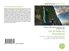 Borítókép a  List of Peaks by Prominence - hoz