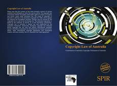Bookcover of Copyright Law of Australia
