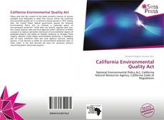 Bookcover of California Environmental Quality Act