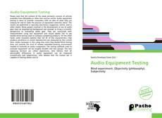 Audio Equipment Testing kitap kapağı