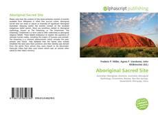 Capa do livro de Aboriginal Sacred Site