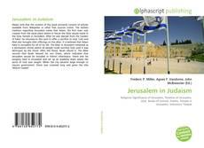 Portada del libro de Jerusalem in Judaism