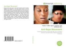Bookcover of Anti-Rape Movement