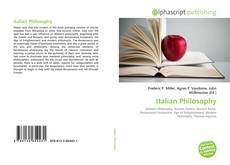 Couverture de Italian Philosophy