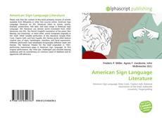 Bookcover of American Sign Language Literature