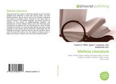 Bookcover of Maltese Literature