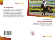 Bookcover of 1992 Epsom Derby
