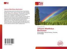 Buchcover von Johann Matthäus Bechstein