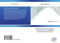 Bookcover of Fifty-Fourth Army (Japan)