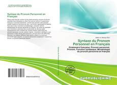 Capa do livro de Syntaxe du Pronom Personnel en Français
