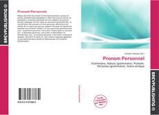 Copertina di Pronom Personnel