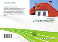 Hotel Vancouver (1916) kitap kapağı