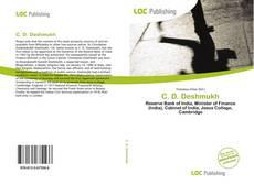 Bookcover of C. D. Deshmukh