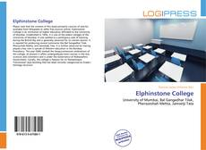Bookcover of Elphinstone College