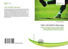 Buchcover von 1991–92 NOFV-Oberliga