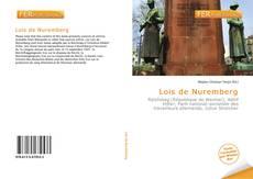 Couverture de Lois de Nuremberg