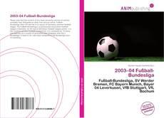Portada del libro de 2003–04 Fußball-Bundesliga