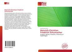Capa do livro de Heinrich Christian Friedrich Schumacher