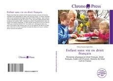 Bookcover of Enfant sans vie en droit français