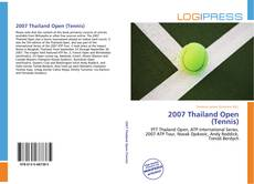 Bookcover of 2007 Thailand Open (Tennis)