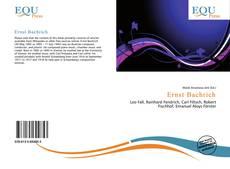 Ernst Bachrich kitap kapağı