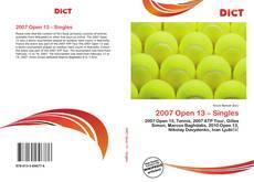 Couverture de 2007 Open 13 – Singles